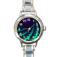 Sssssssfractal Round Italian Charm Watch by urockshop