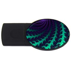 Sssssssfractal 4gb Usb Flash Drive (oval) by urockshop