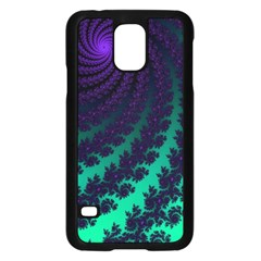 Sssssssfractal Samsung Galaxy S5 Case (black) by urockshop