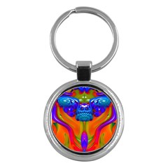 Lava Creature Key Chain (round) by icarusismartdesigns