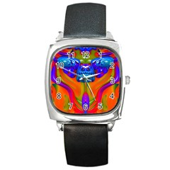 Lava Creature Square Leather Watch by icarusismartdesigns