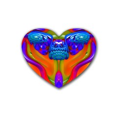 Lava Creature Drink Coasters 4 Pack (heart)  by icarusismartdesigns