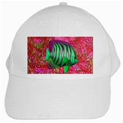 Fish White Baseball Cap by icarusismartdesigns