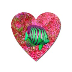 Fish Magnet (heart) by icarusismartdesigns