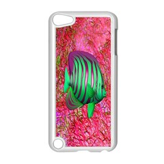 Fish Apple Ipod Touch 5 Case (white) by icarusismartdesigns