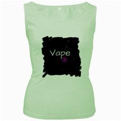 Vape Life Grunge Women s Tank Top (green) by OCDesignss