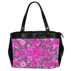 Dazzling Hot Pink Oversize Office Handbag (two Sides) by OCDesignss