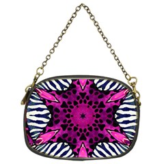 Crazy Hot Pink Zebra  Chain Purse (two Sided)  by OCDesignss