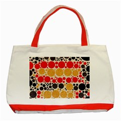 Retro Polka Dots  Classic Tote Bag (red) by OCDesignss