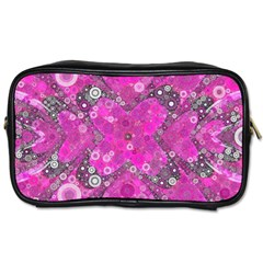 Dazzling Hot Pink Travel Toiletry Bag (two Sides)