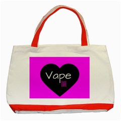 Hot Pink Vape Heart Classic Tote Bag (red) by OCDesignss