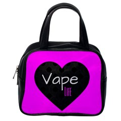 Hot Pink Vape Heart Classic Handbag (one Side) by OCDesignss