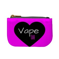 Hot Pink Vape Heart Coin Change Purse by OCDesignss