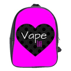 Hot Pink Vape Heart School Bag (large) by OCDesignss
