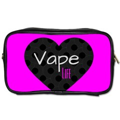 Hot Pink Vape Heart Travel Toiletry Bag (two Sides) by OCDesignss