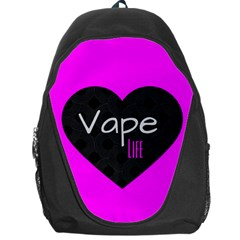Hot Pink Vape Heart Backpack Bag by OCDesignss