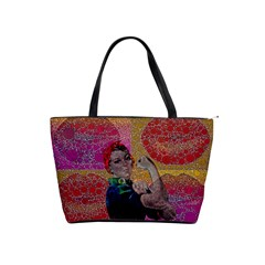 Rosie Pop Lips  Large Shoulder Bag by OCDesignss