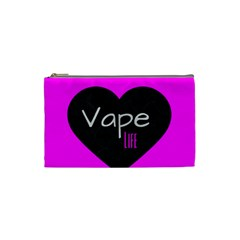 Hot Pink Vape Heart Cosmetic Bag (small) by OCDesignss