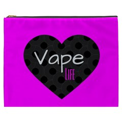 Hot Pink Vape Heart Cosmetic Bag (xxxl) by OCDesignss