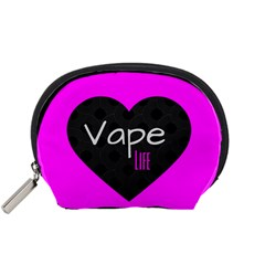 Hot Pink Vape Heart Accessory Pouch (small) by OCDesignss