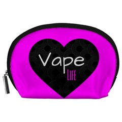 Hot Pink Vape Heart Accessory Pouch (large) by OCDesignss