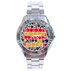 Retro Polka Dots  Stainless Steel Watch