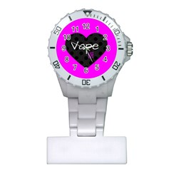 Hot Pink Vape Heart Nurses Watch by OCDesignss
