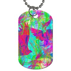 Birds In Flight Dog Tag (one Sided) by icarusismartdesigns