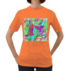 Birds In Flight Women s T-shirt (colored) by icarusismartdesigns