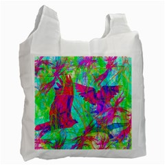 Birds In Flight White Reusable Bag (one Side) by icarusismartdesigns