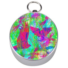 Birds In Flight Silver Compass by icarusismartdesigns