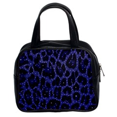 Blue Leapord Bling Classic Handbag (two Sides) by OCDesignss