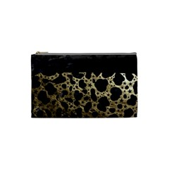 Cheetah Stars Gold  Cosmetic Bag (small) by OCDesignss