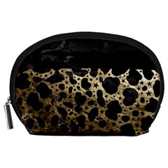 Cheetah Stars Gold  Accessory Pouch (large) by OCDesignss
