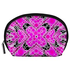 Bling Pink Black Kieledescope  Accessory Pouch (large) by OCDesignss