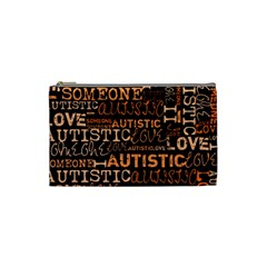 I Love Someone Autistic  Cosmetic Bag (small) by OCDesignss