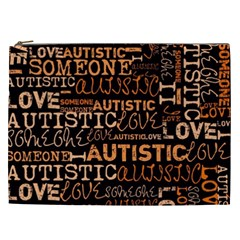I Love Someone Autistic  Cosmetic Bag (xxl) by OCDesignss