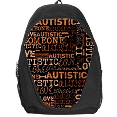 I Love Someone Autistic  Backpack Bag by OCDesignss