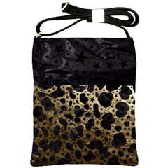 Cheetah Stars Gold  Shoulder Sling Bag by OCDesignss