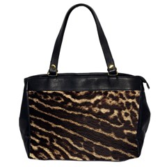 Leopard Texture  Oversize Office Handbag (two Sides) by OCDesignss