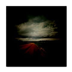 Dark Empty Road Face Towel by dflcprints