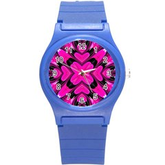 Hot Pink Glossy Plastic Sport Watch (small)
