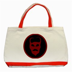 Devil Symbol Logo Classic Tote Bag (red) by dflcprints