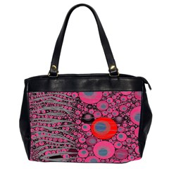 Pink Zebra Abstract Oversize Office Handbag (two Sides) by OCDesignss