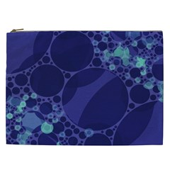 Purple Turquoise Abstract Cosmetic Bag (xxl)