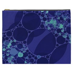 Purple Turquoise Abstract Cosmetic Bag (xxxl) by OCDesignss