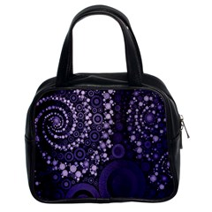 Deep Purple Swirls Classic Handbag (two Sides) by OCDesignss