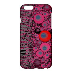 Pink Zebra Abstract Apple Iphone 6 Plus Hardshell Case by OCDesignss