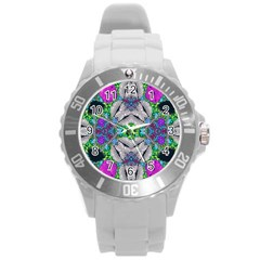 Crazy Lips  Plastic Sport Watch (large) by OCDesignss