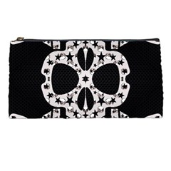 Metal Texture Silver Skulls  Pencil Case by OCDesignss